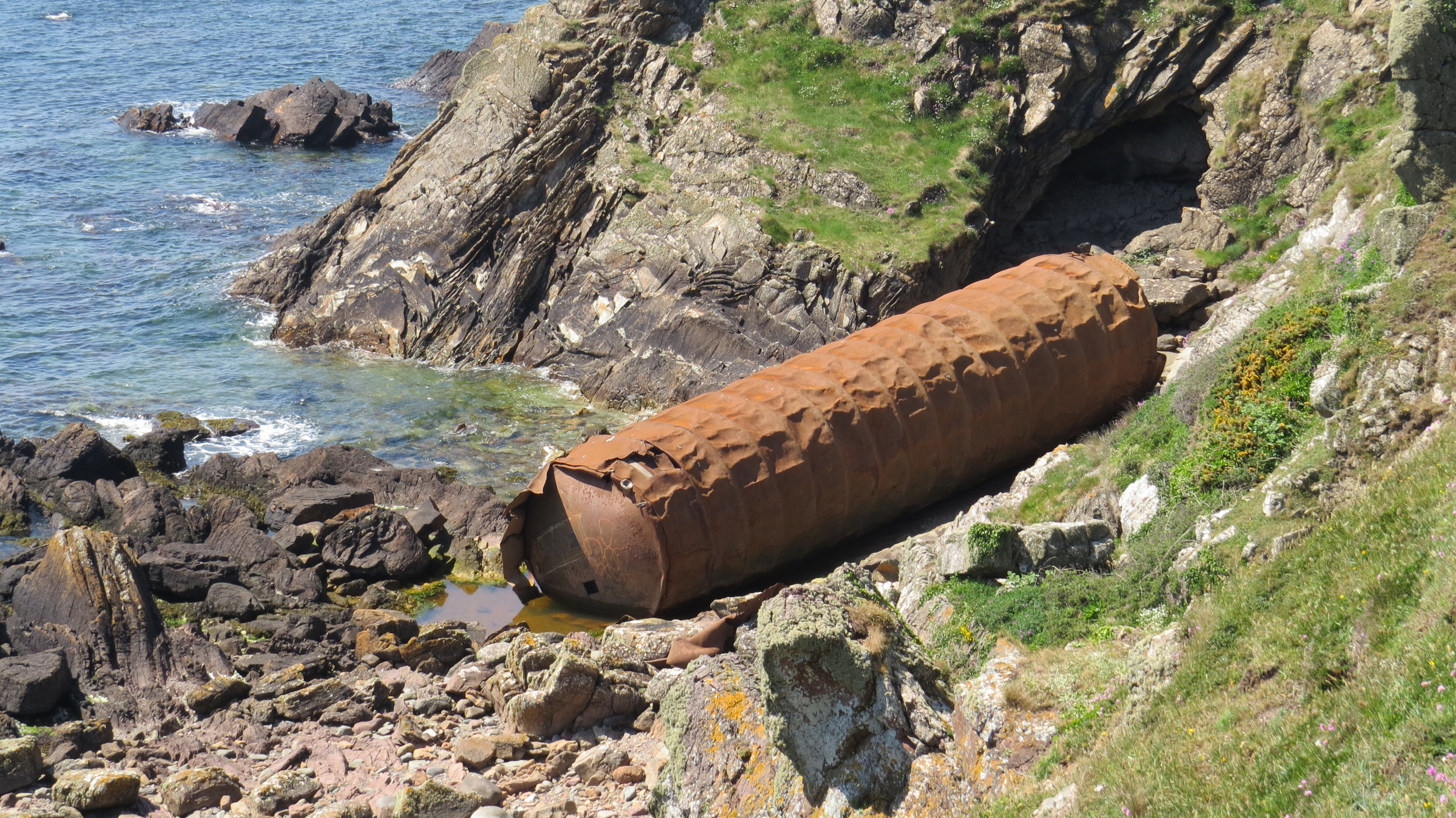52 Ton Gas Cylinder washed up