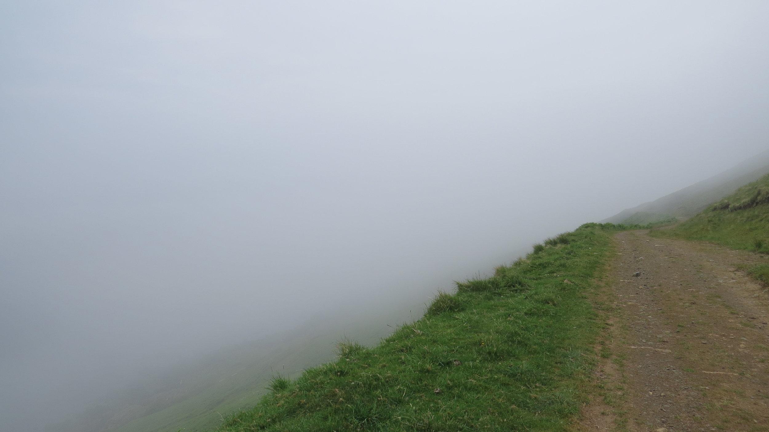 Hazy Track Walking