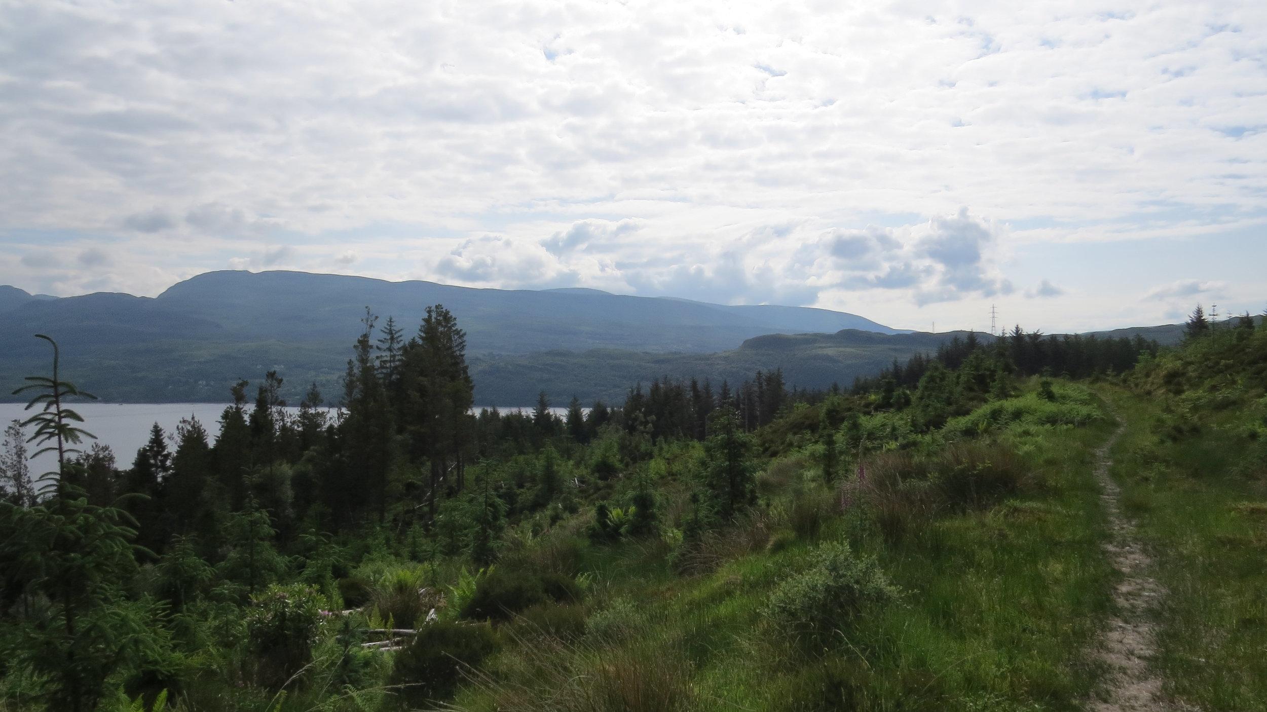 Track above Loch Long