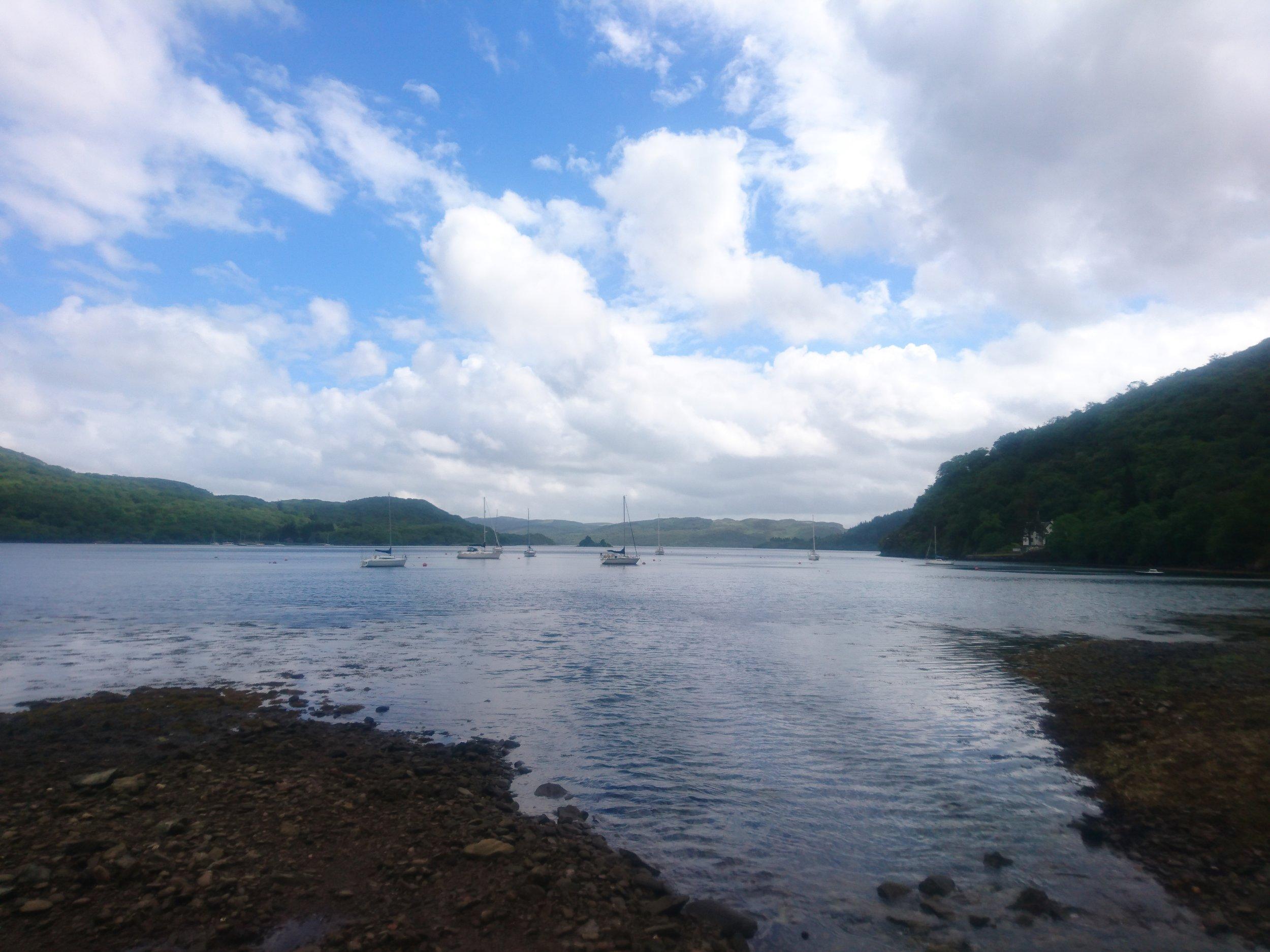 Yachts on Loch