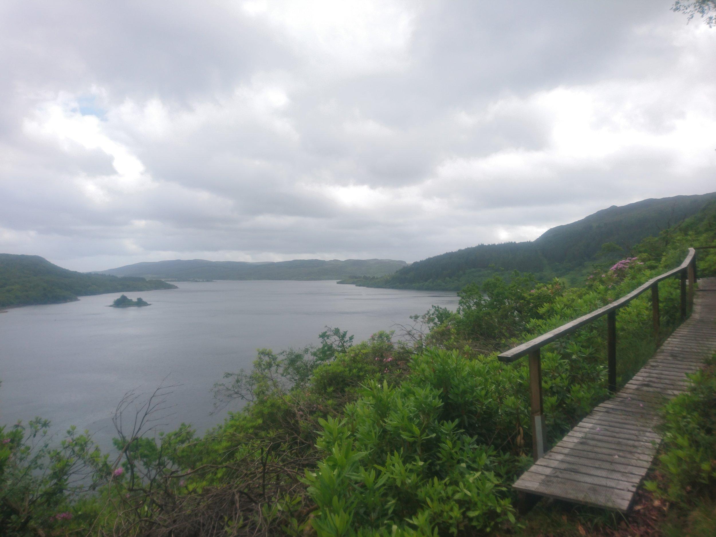 Boardwalk high above Loch