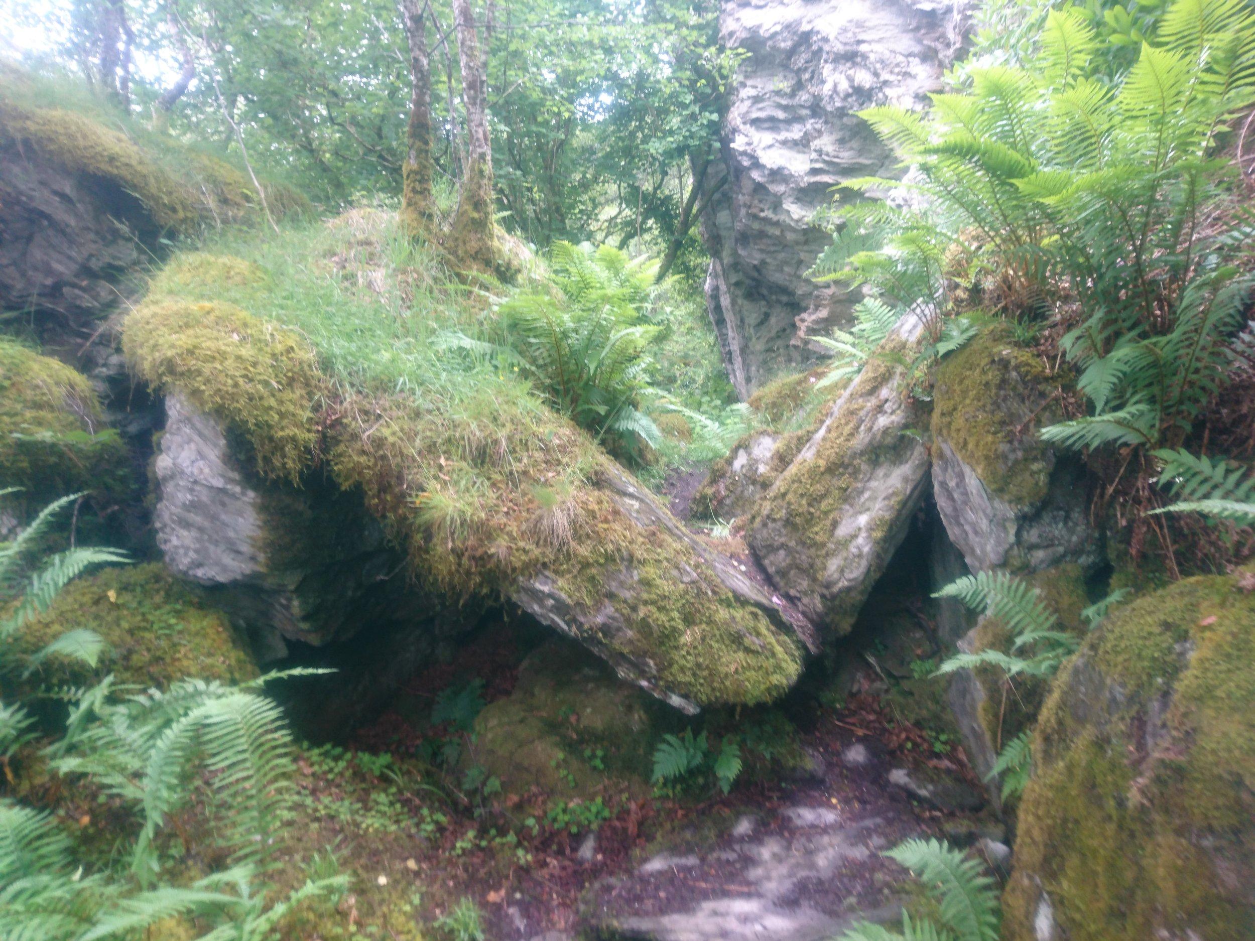 Path between the Rocks