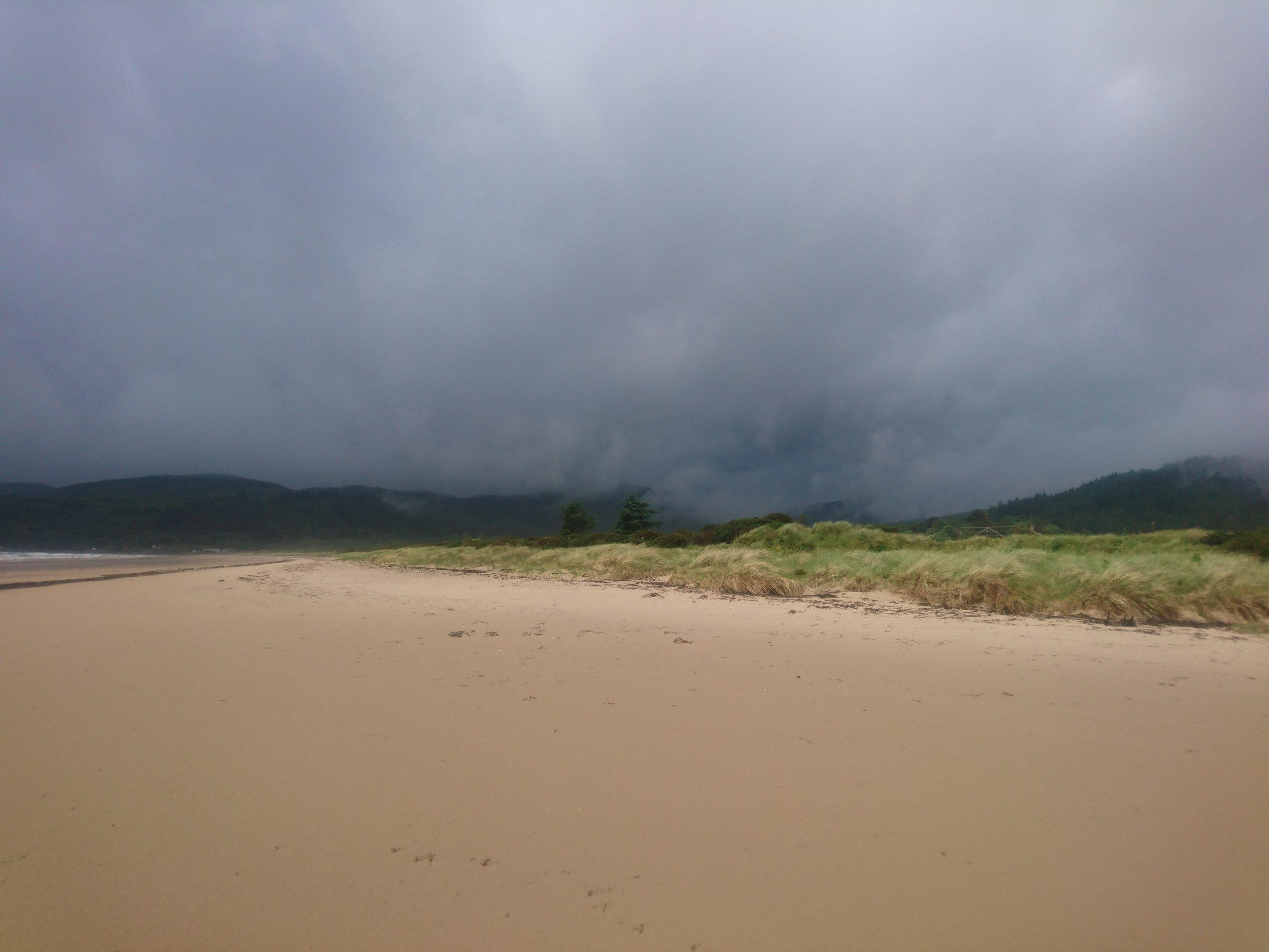 Dark Clouds above Carradale Bay