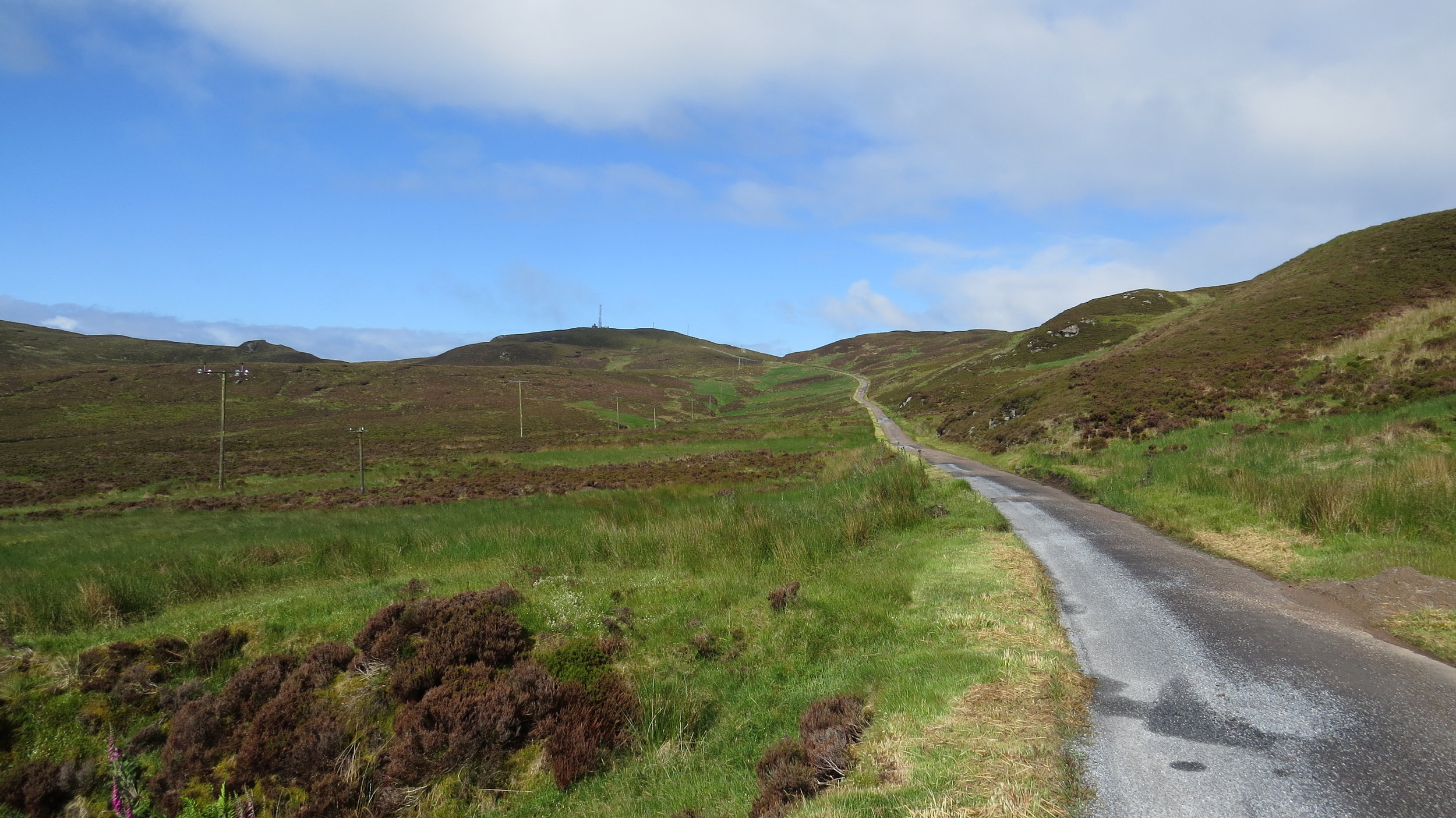 Looking up Road to the Mull