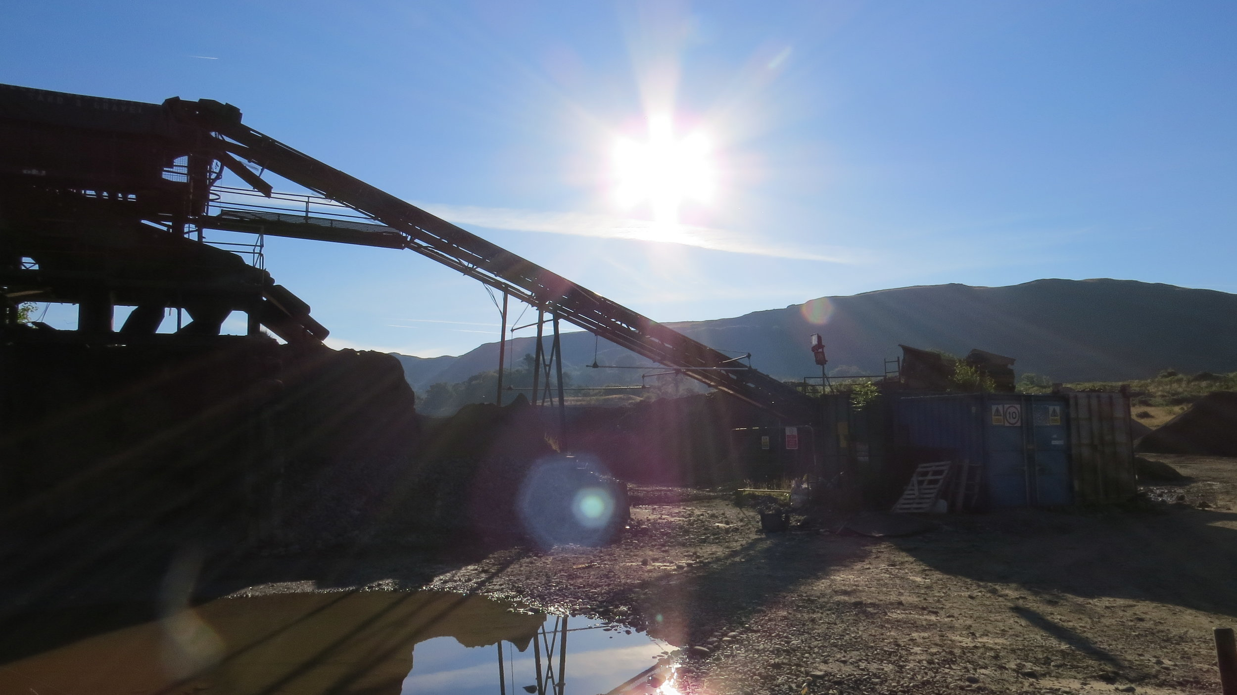 Morning Sun over Worksite