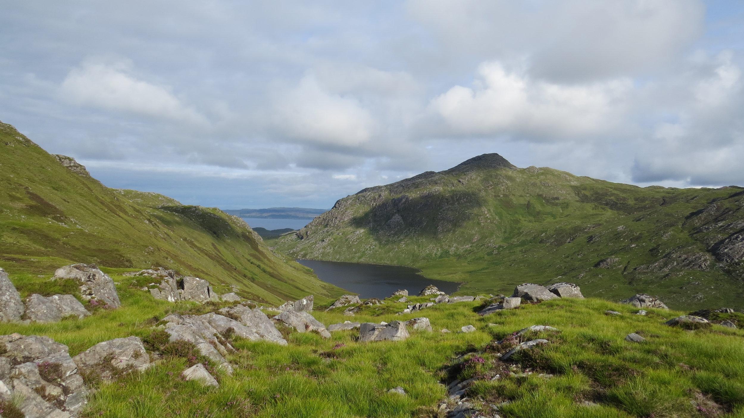 Looking back to Loch Eireagoraidh