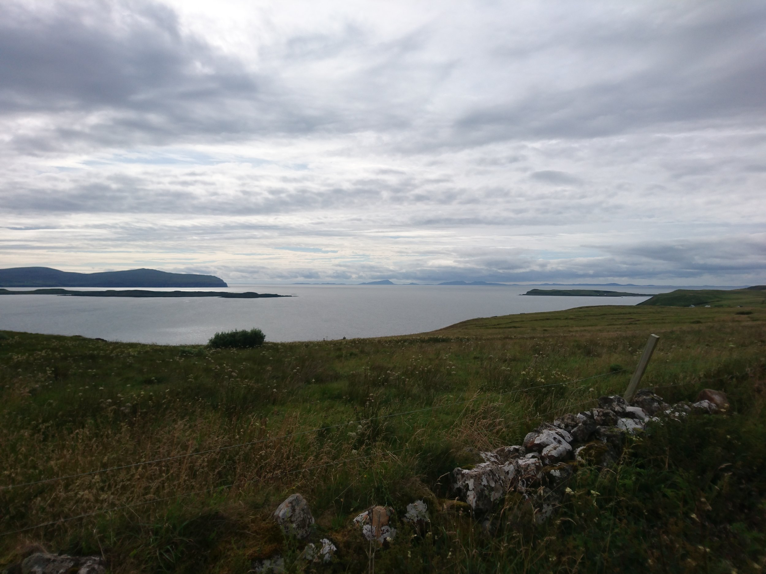 Outer Hebrides in Distance