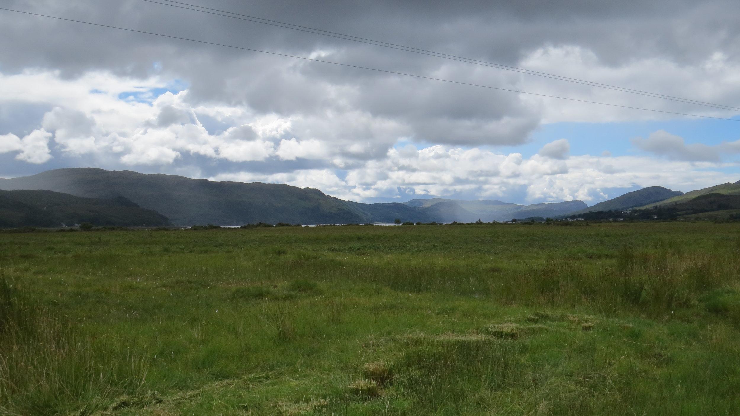 Clouds, Hills & Grass