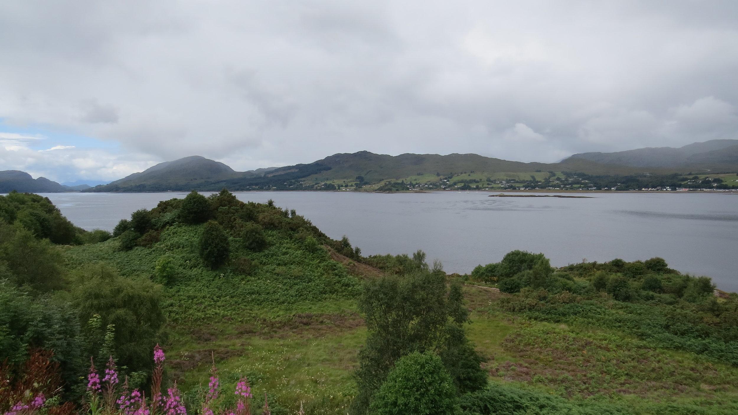 View down Loch Carron