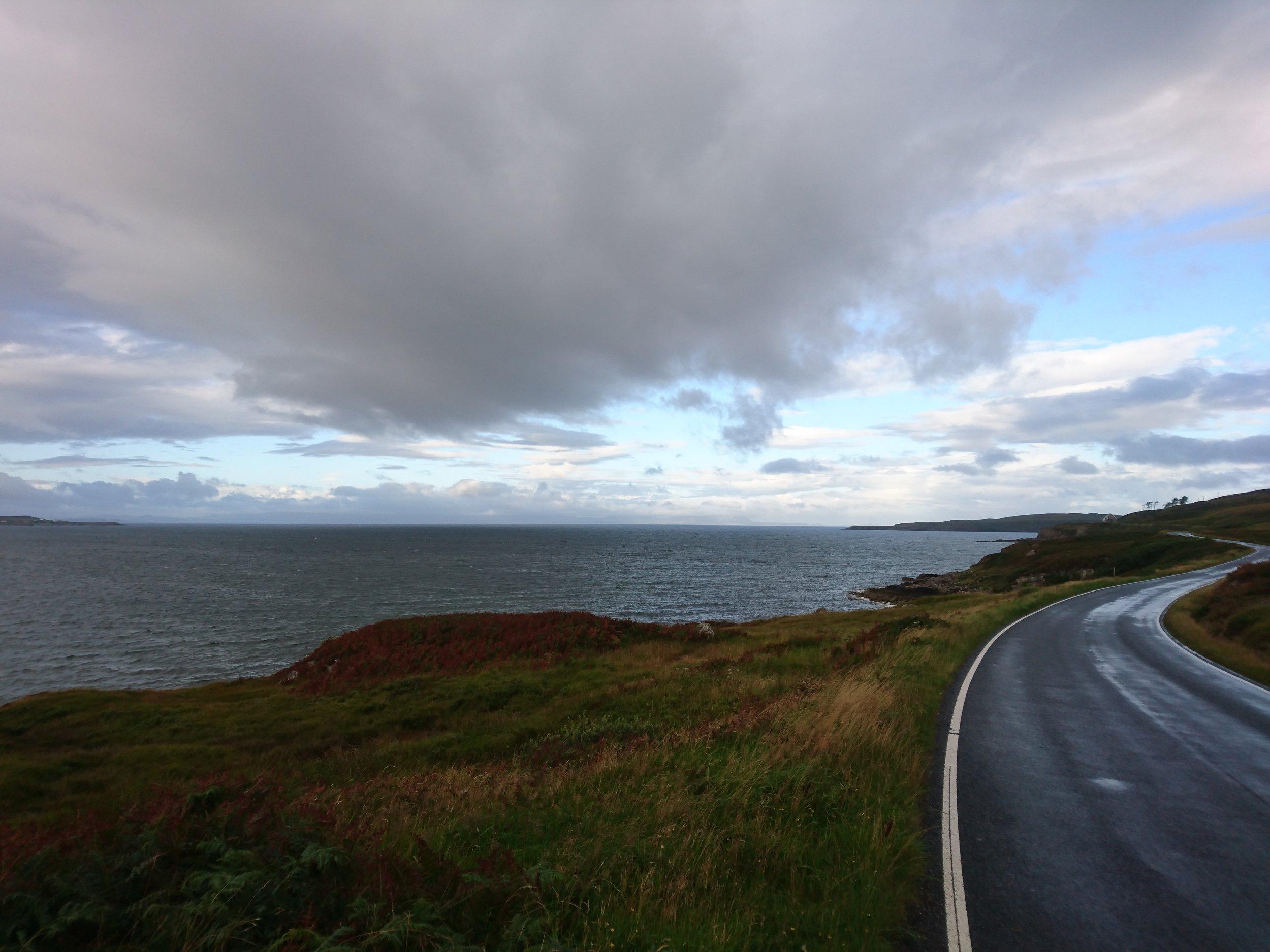 Winding Coastal Road