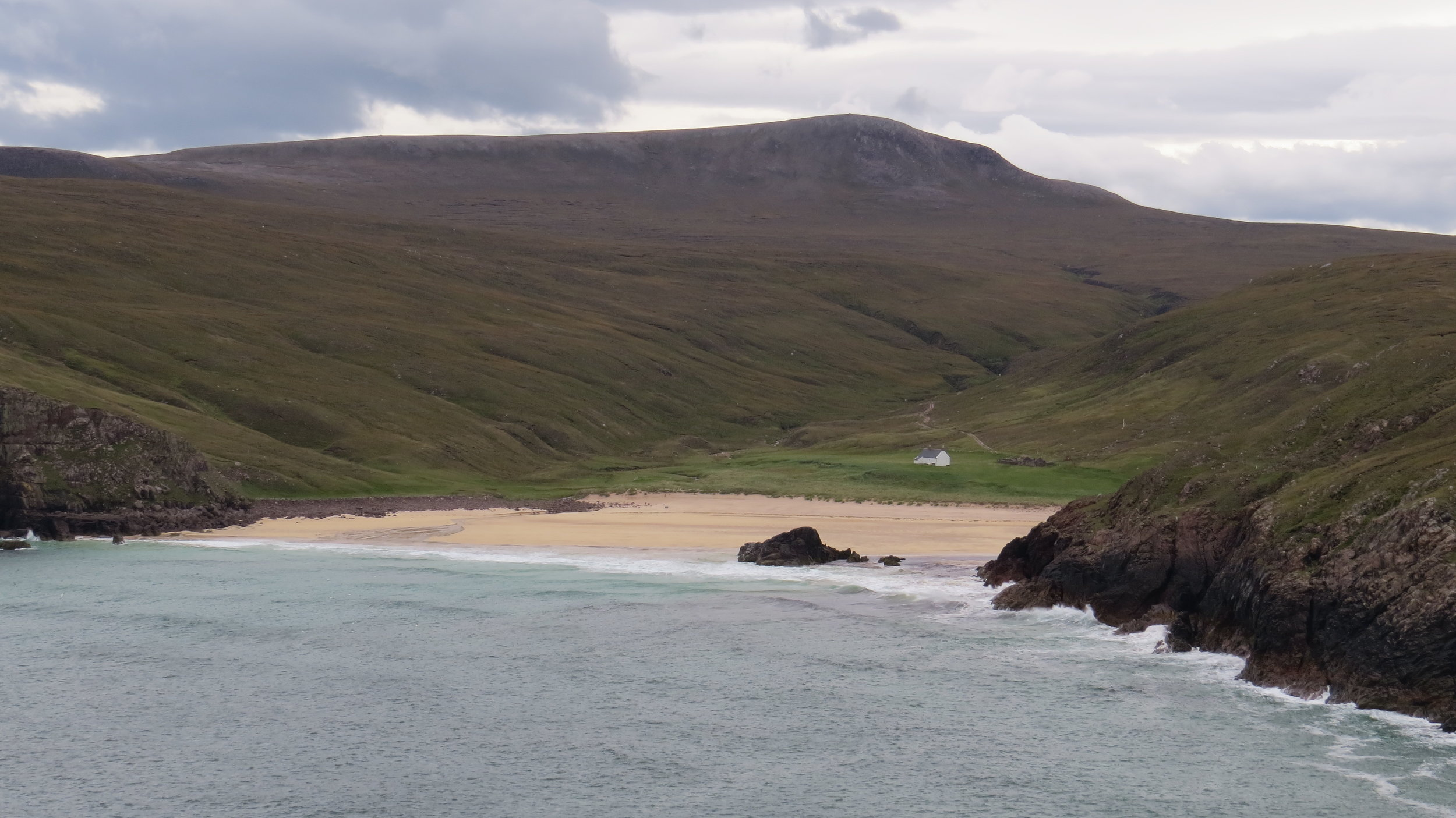 Approaching Kervaig Bay and Bothy