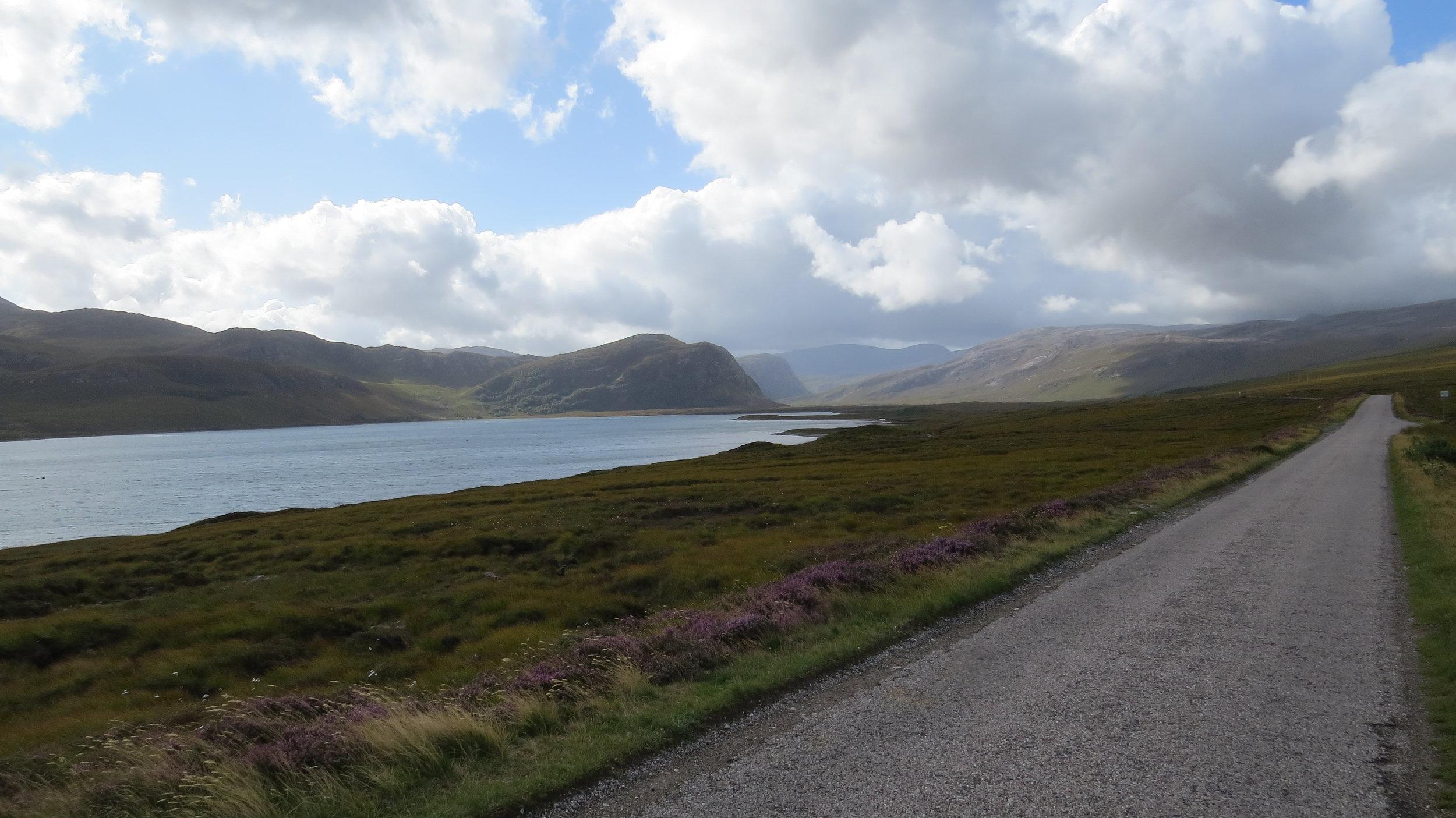 Road down Loch Eriboll