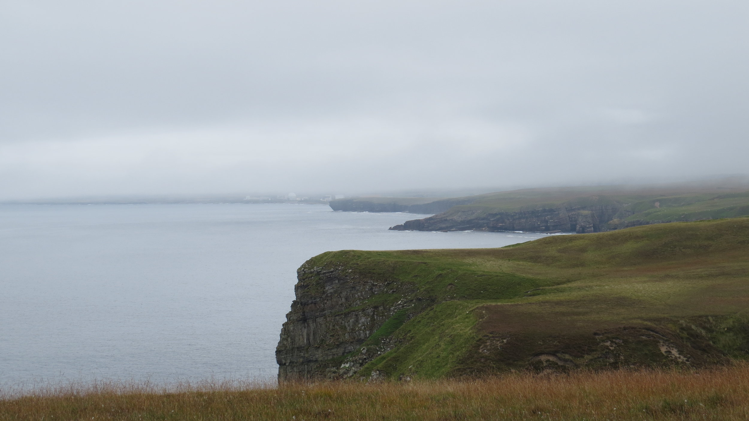 Cliffs with Mist Descending