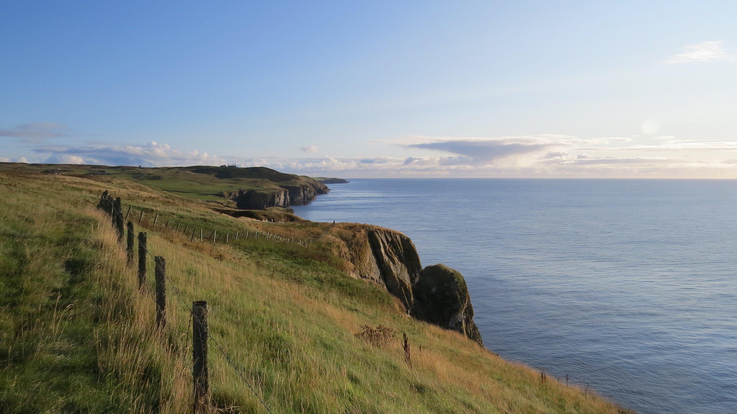 Looking back along Cliffs