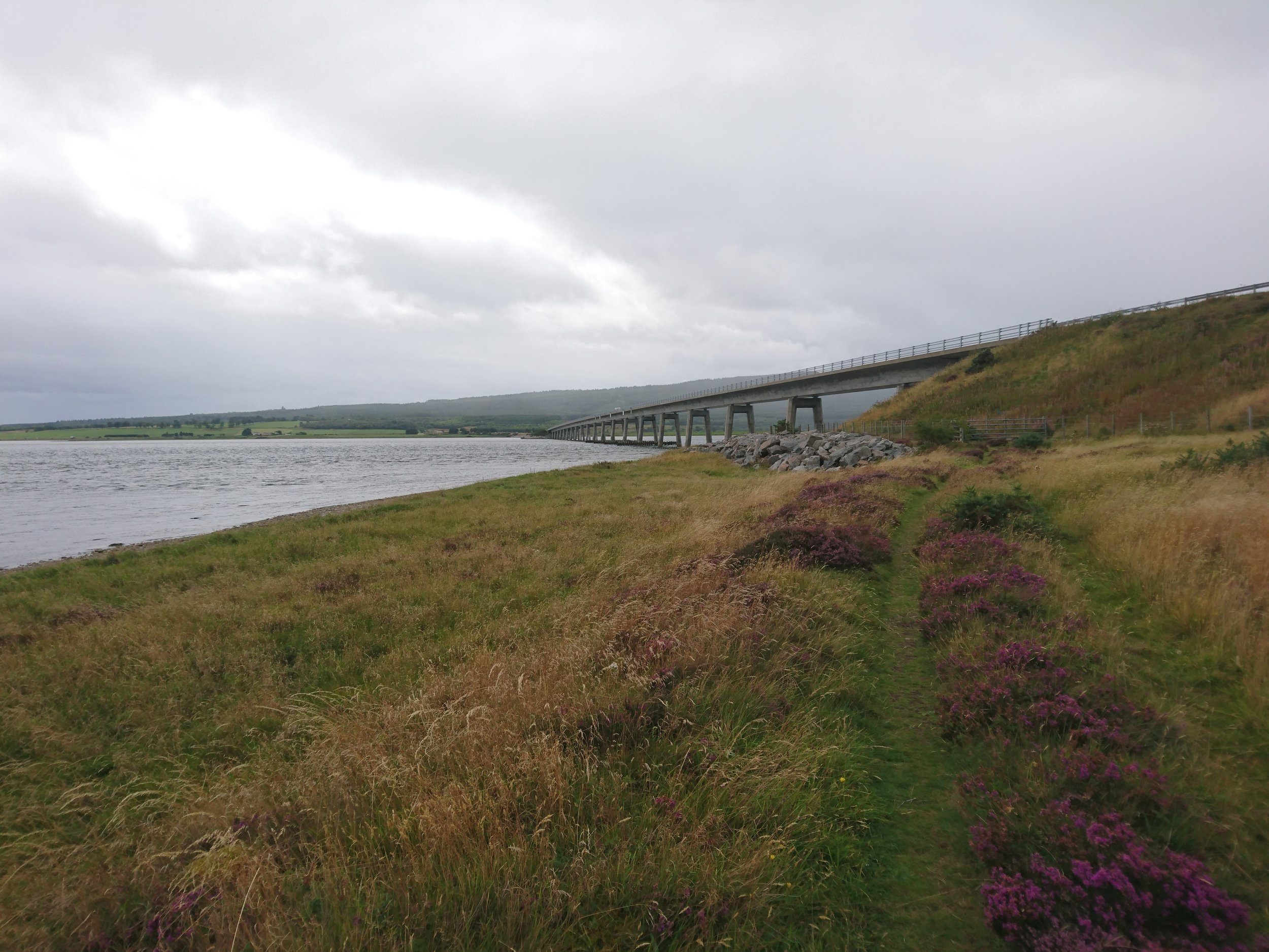 Approaching Dornoch Firth Bridge