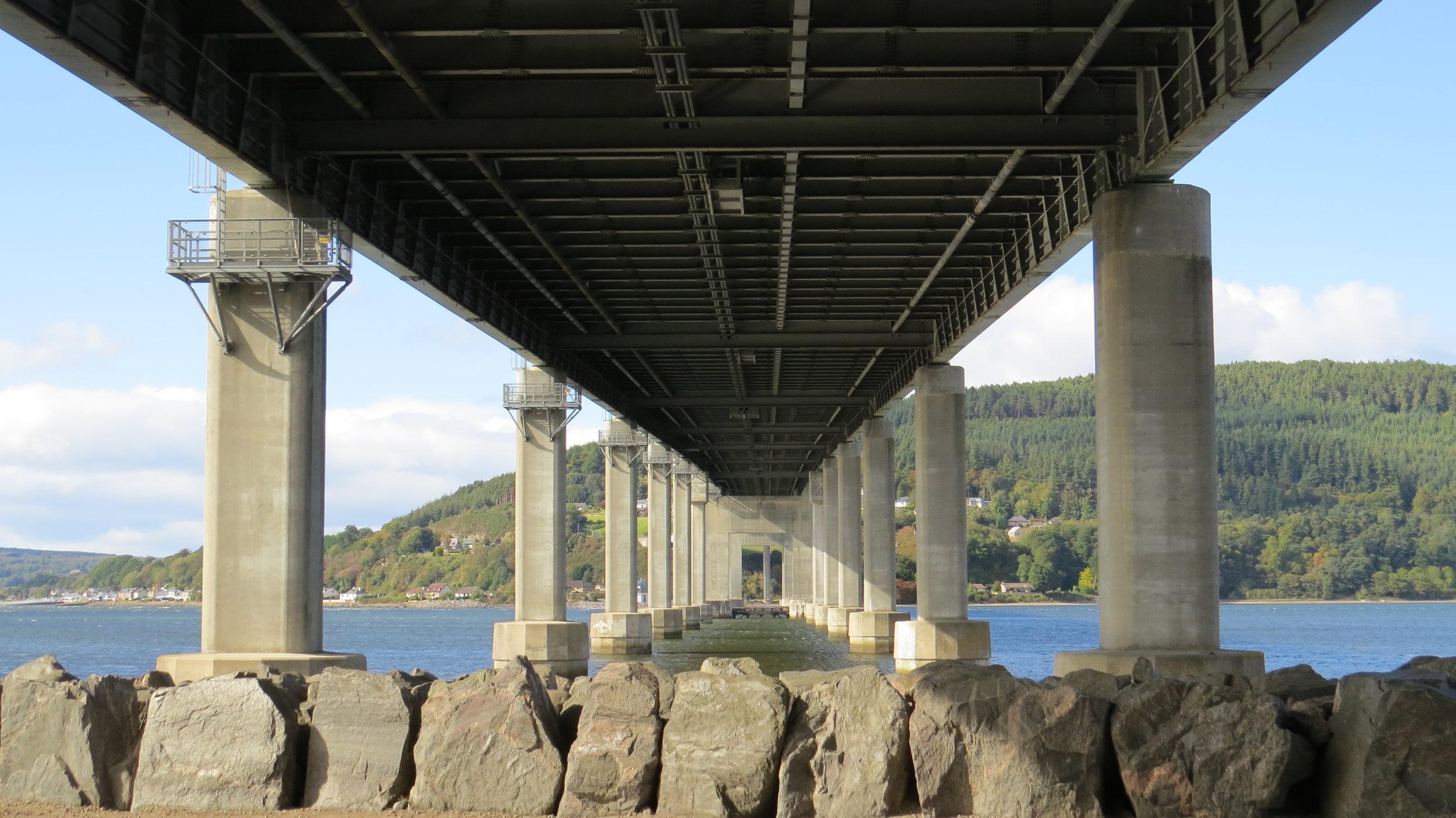 Underside Kessock Bridge