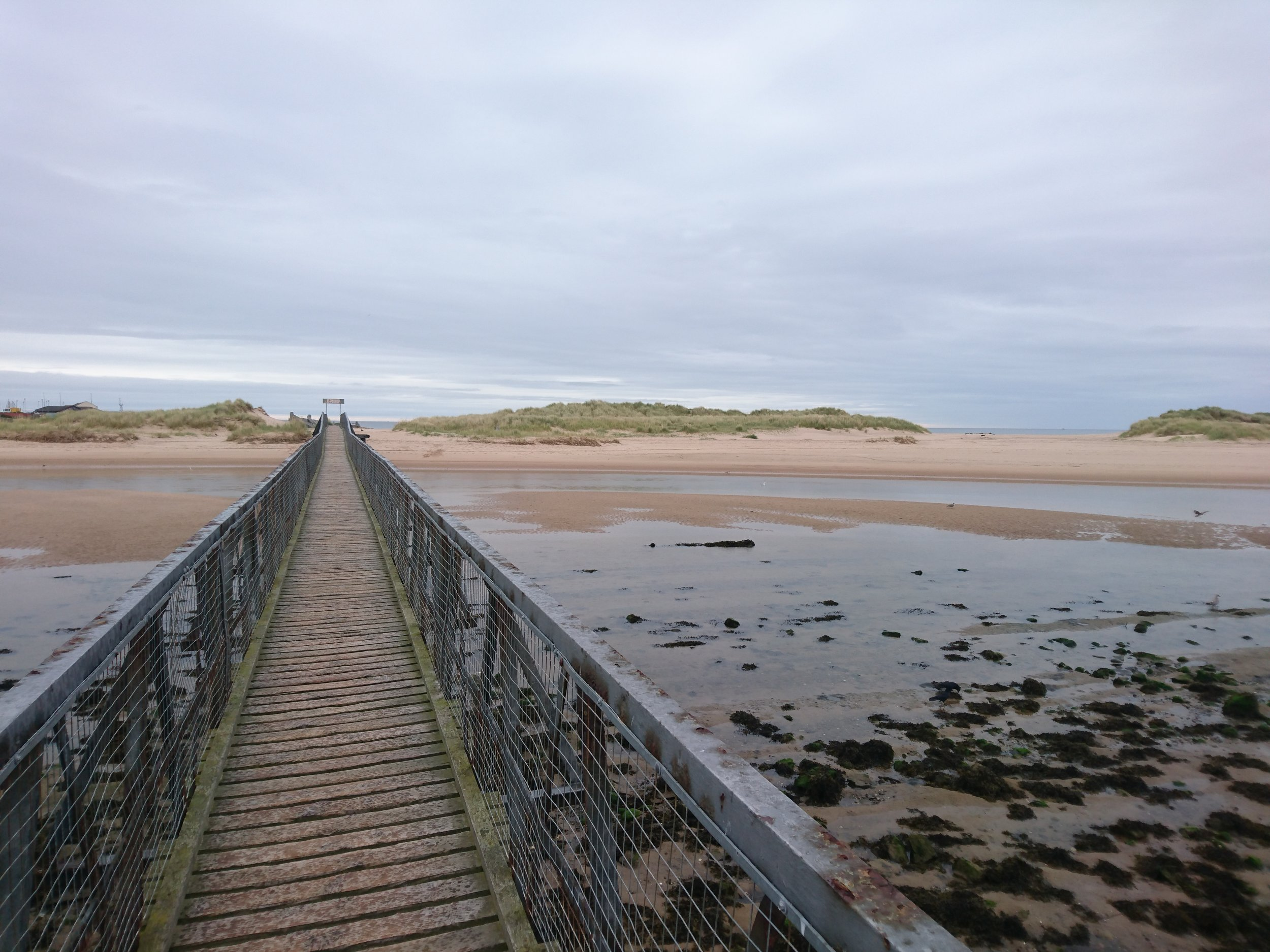 Footbridge from Lossiemouth