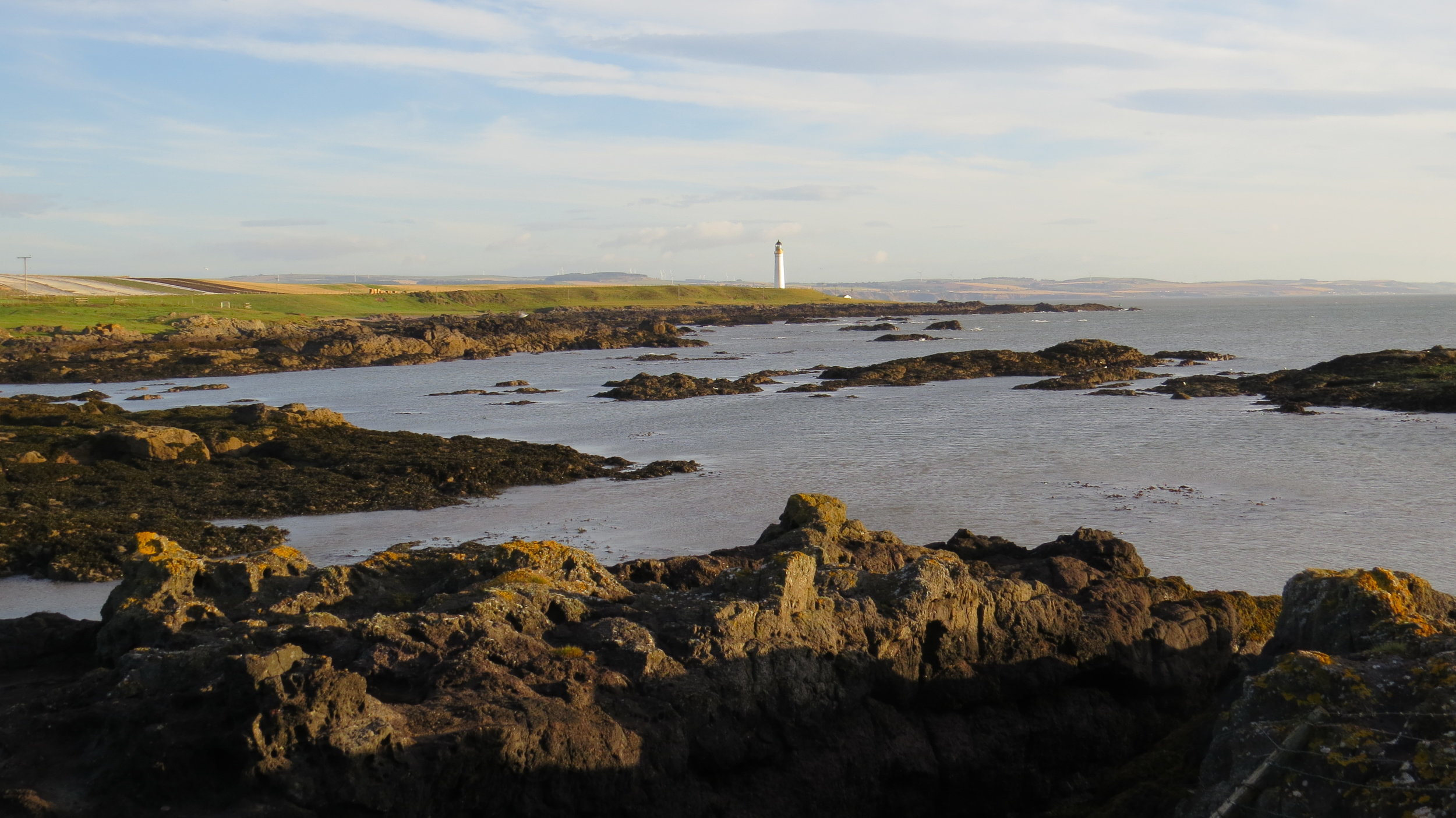 Looking back to Scurdie Ness