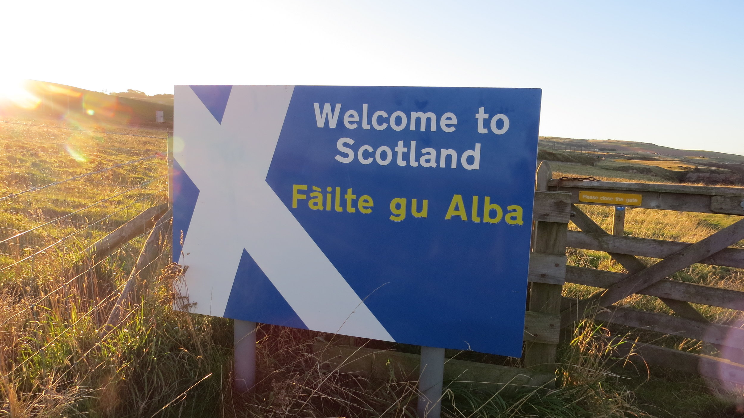 Scotland Border Sign
