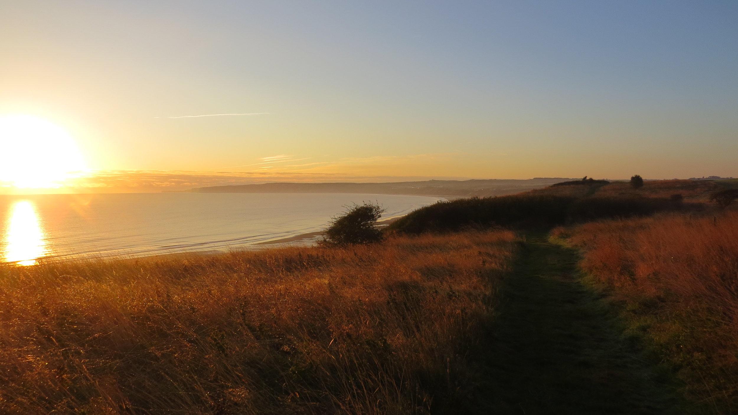 Sun Rising over Filey Bay