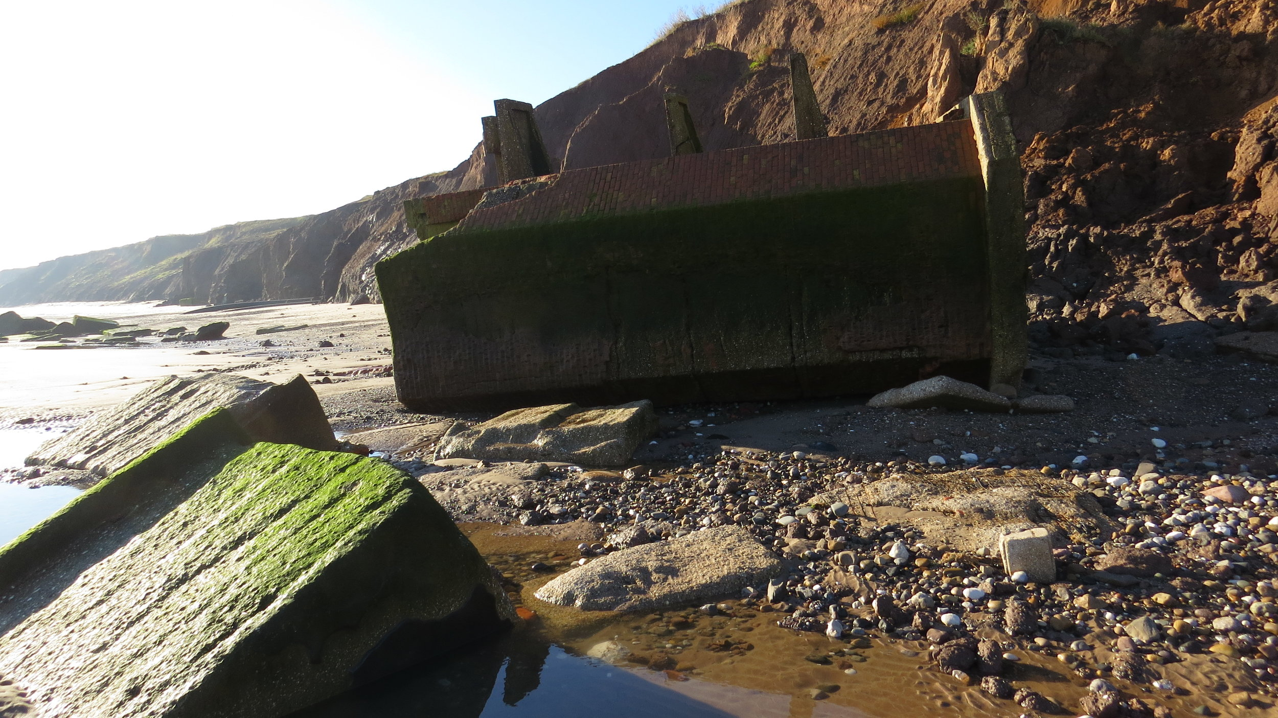 Old War Structure Collapsed onto Beach