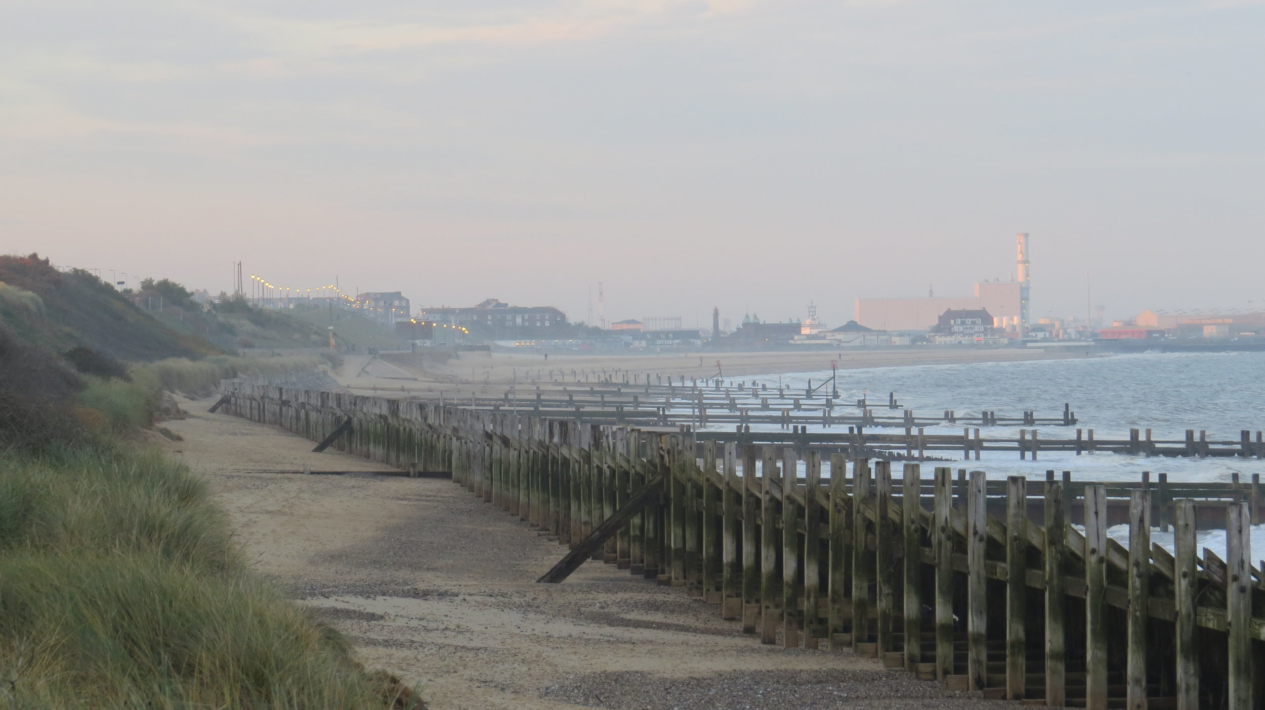 Looking back to Great Yarmouth