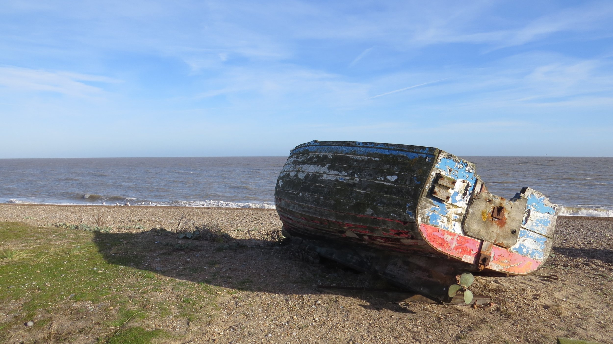 Wooden Boat at Sizewell