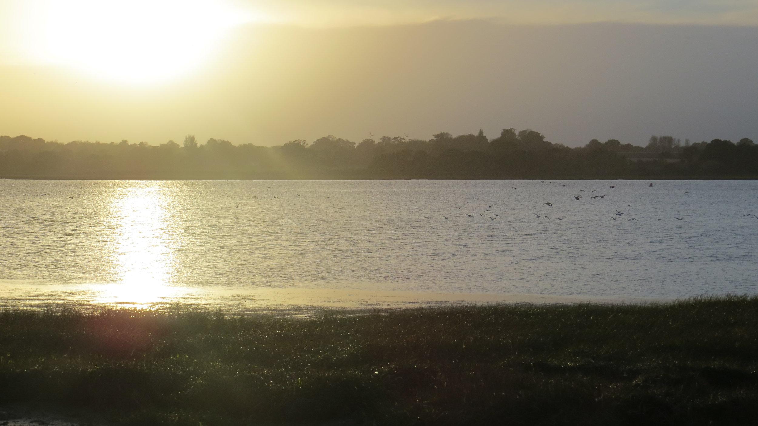 Sun Setting over River Deben