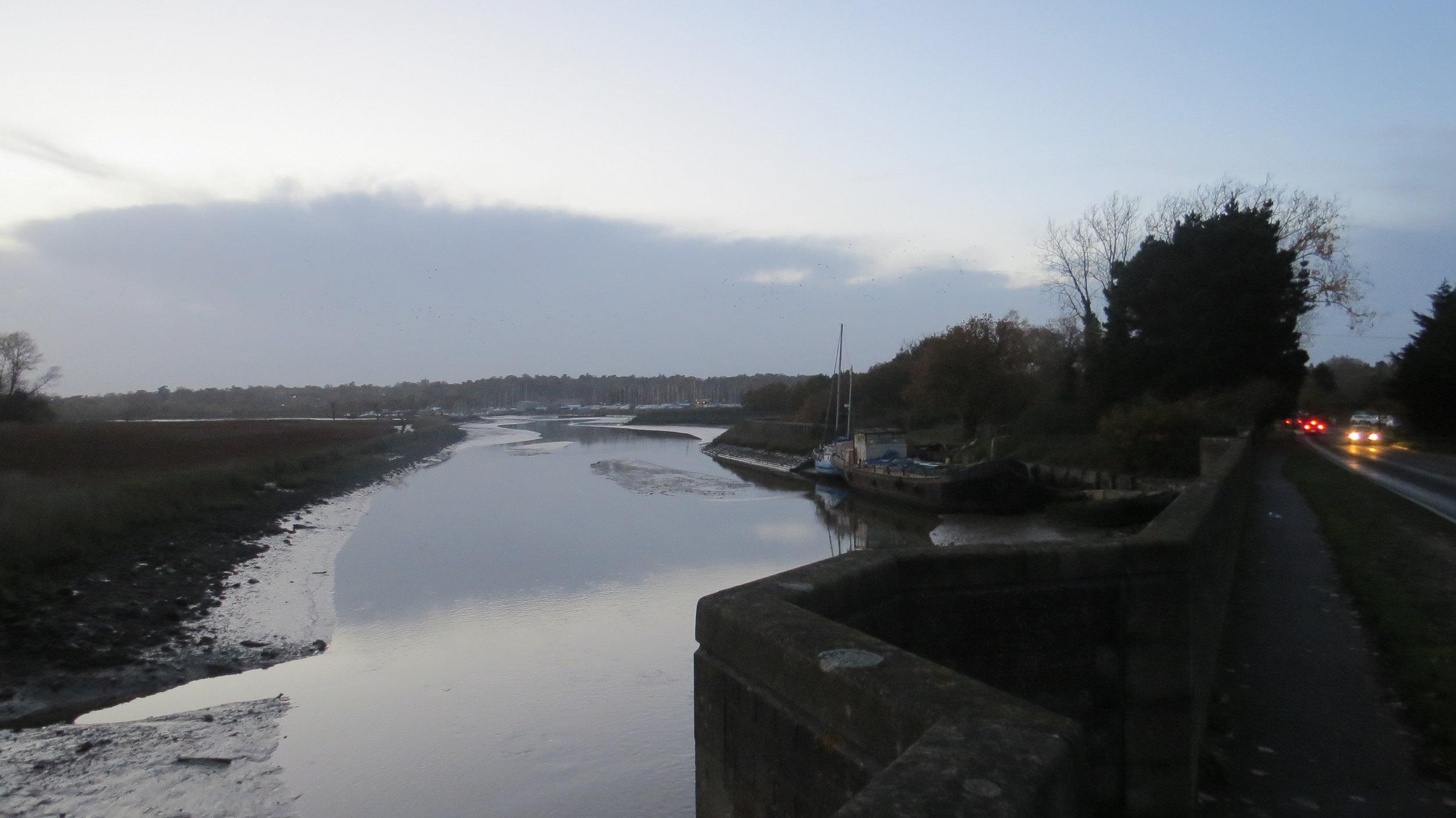 Crossing the Wilford Bridge