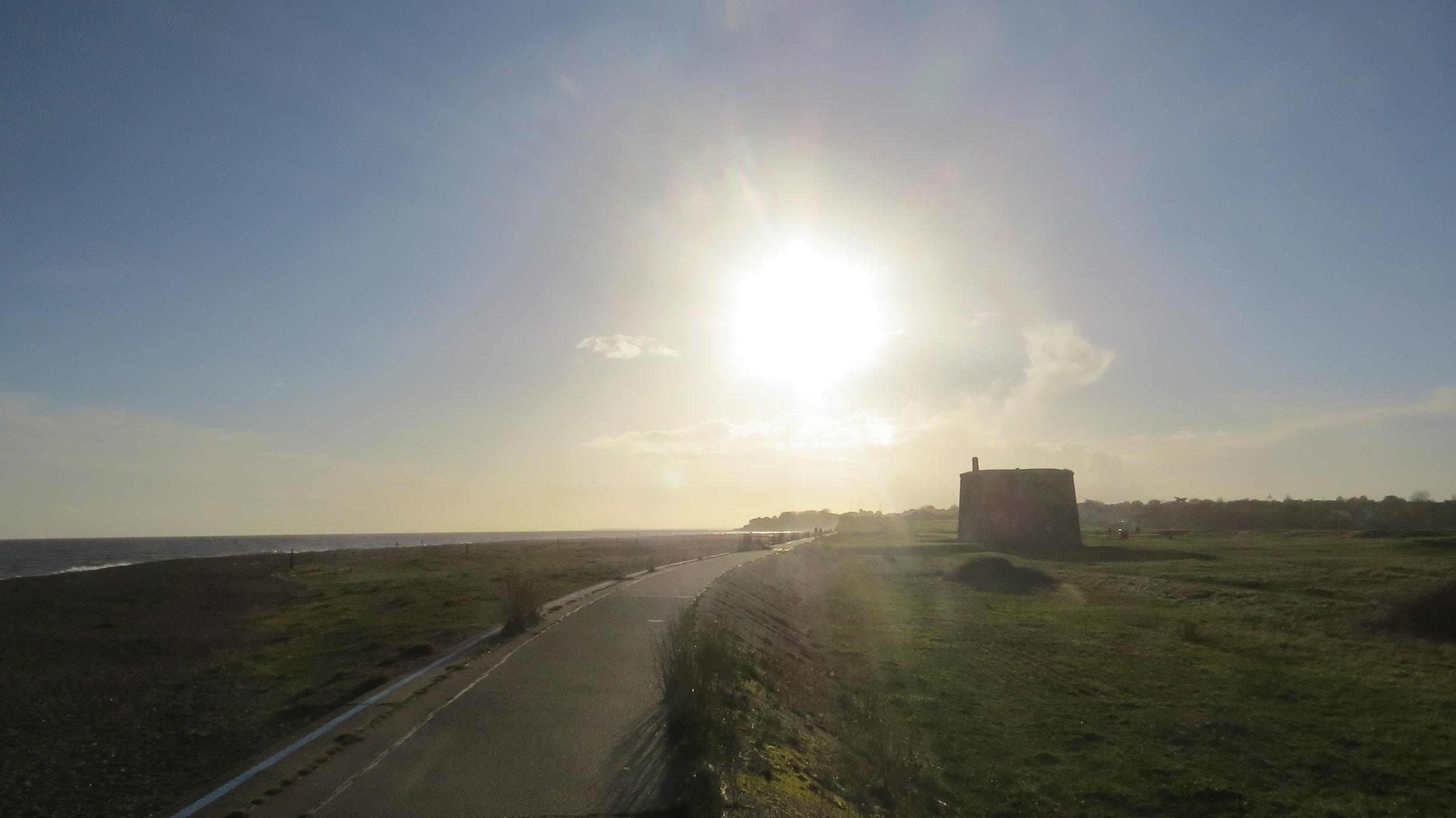 Sun Setting over Martello Tower