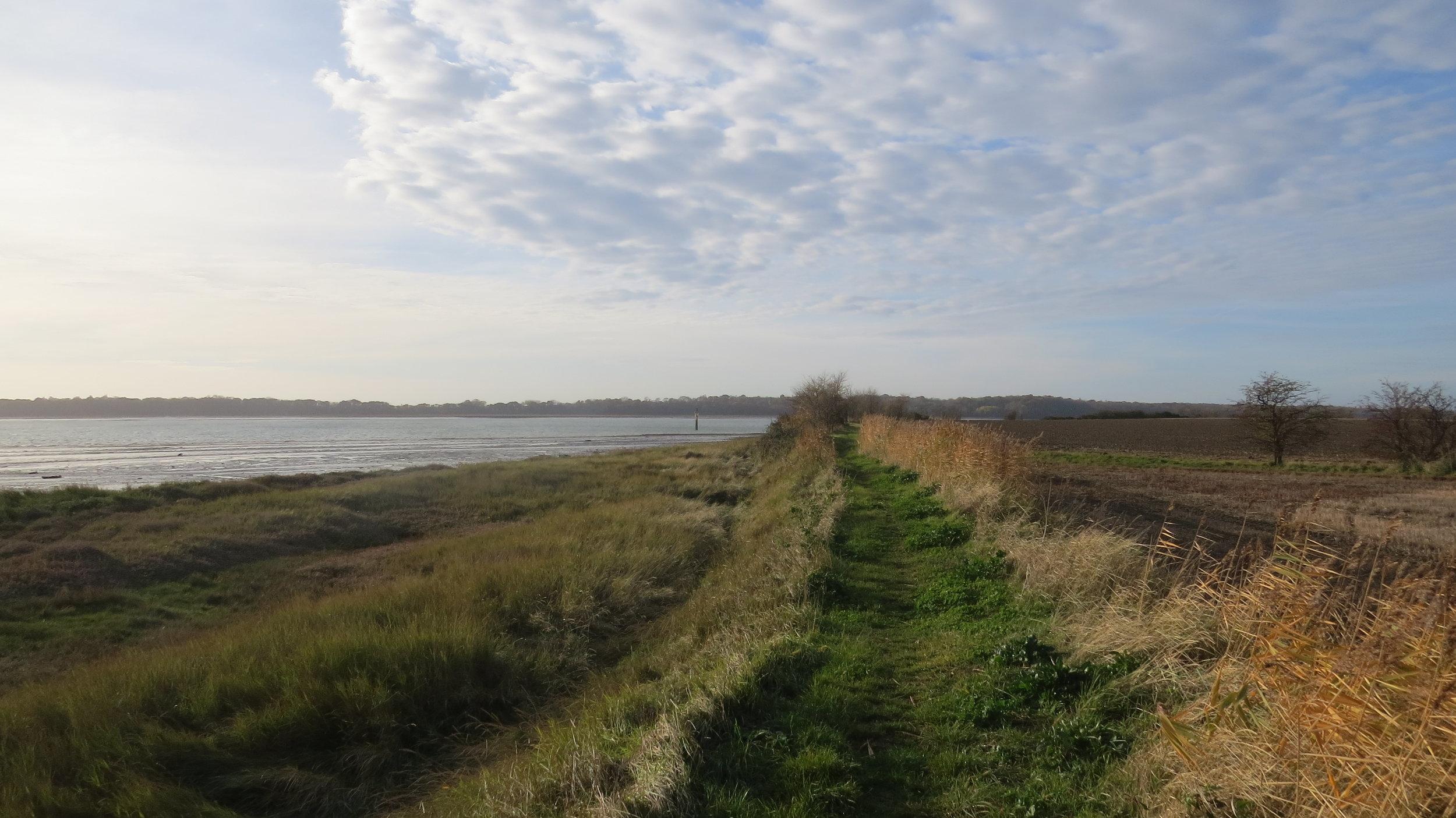 Embankment Walking up Stour