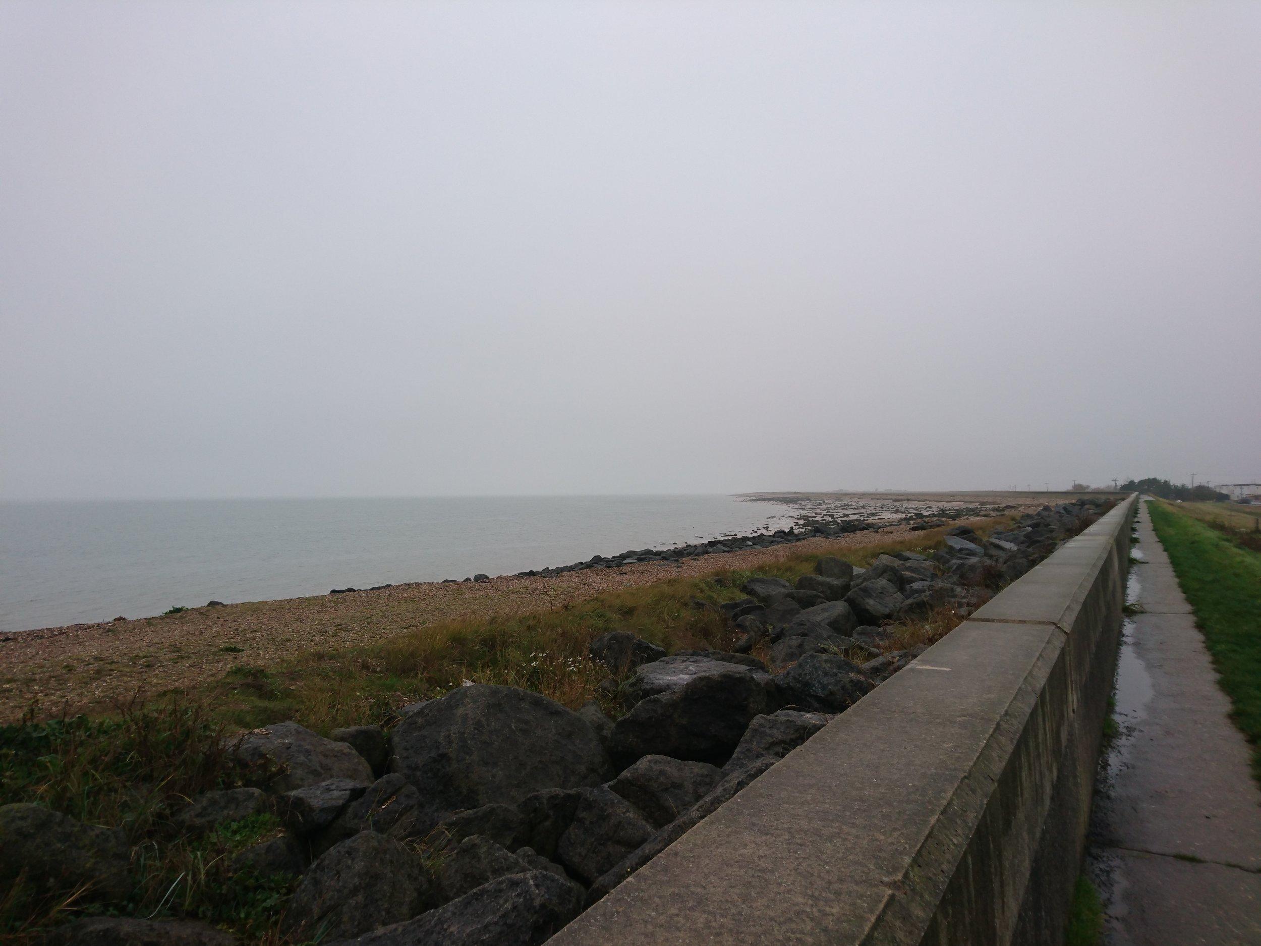 Sea Wall near Jaywick