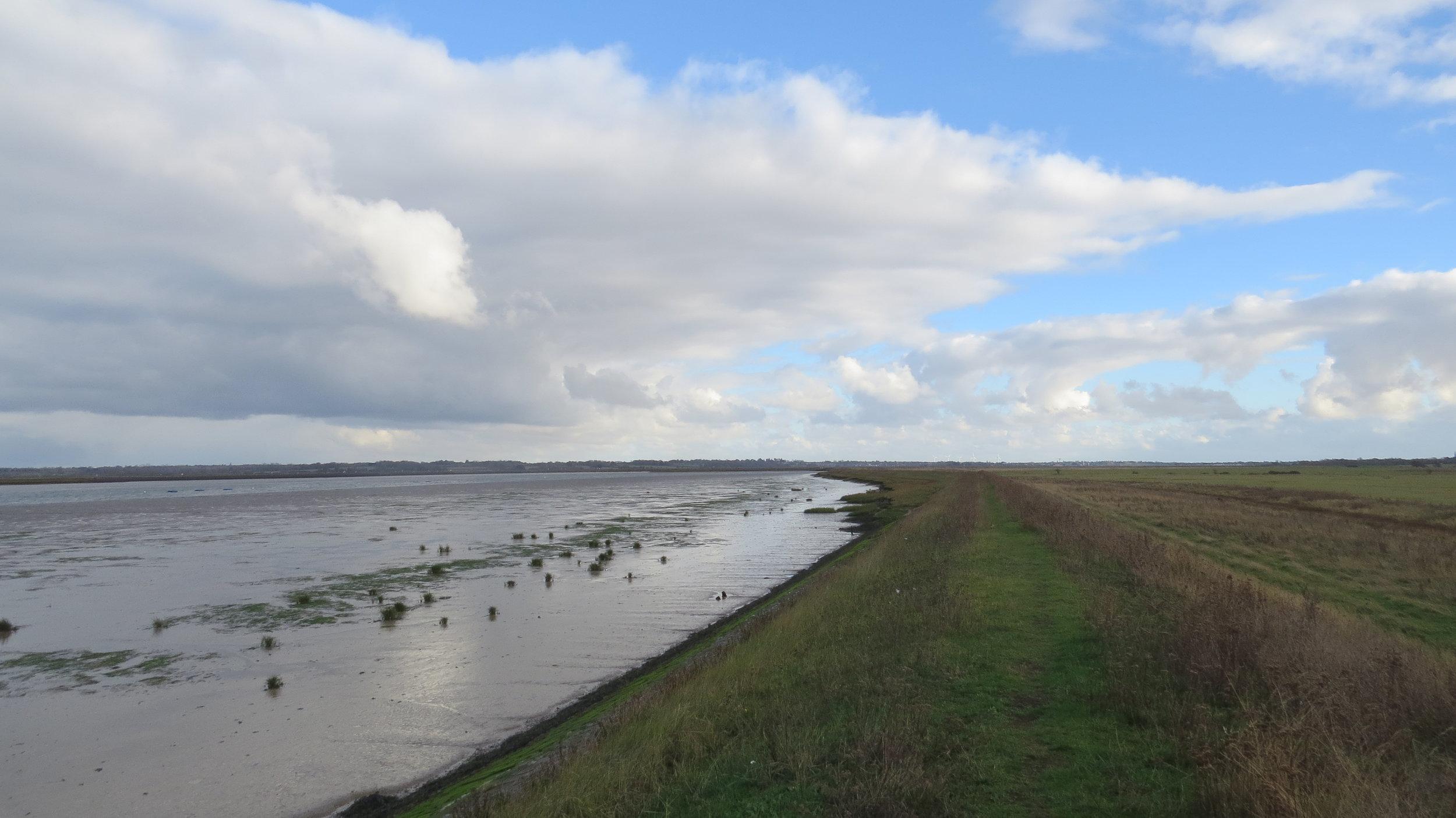Sea Embankment along North of Mersea