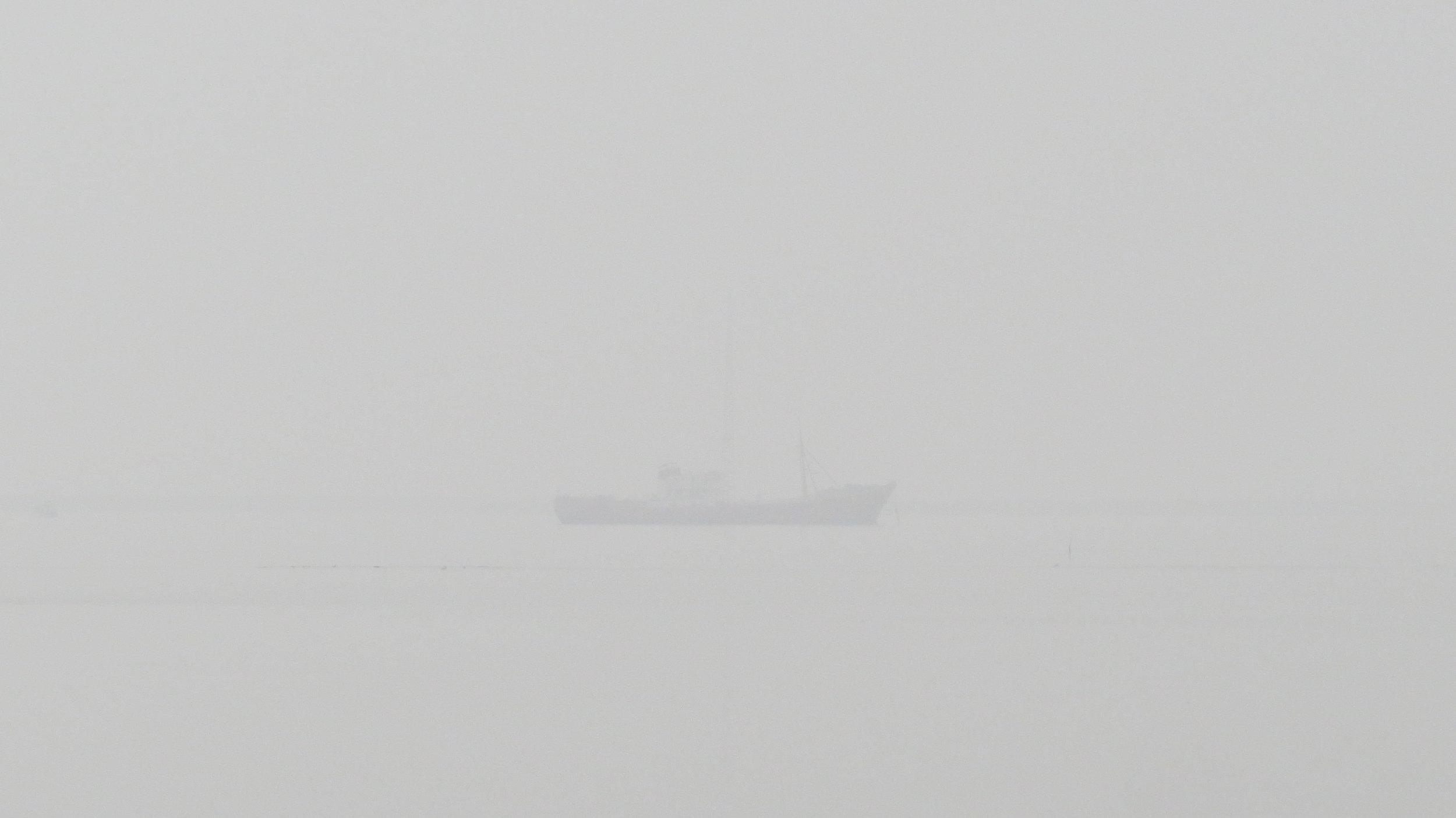 Radio Caroline Ship through Mist