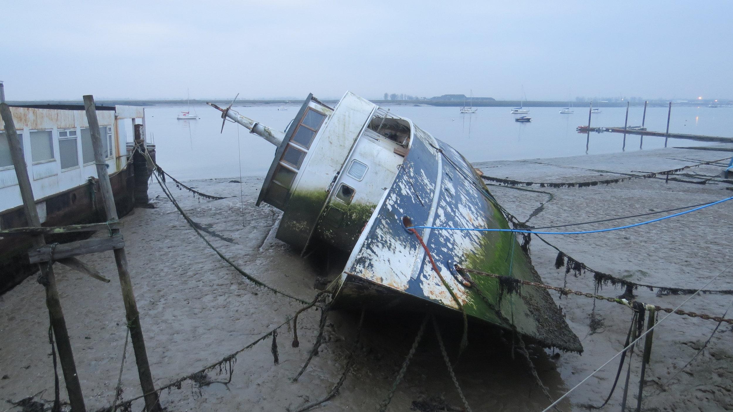Moored Ship Capsized