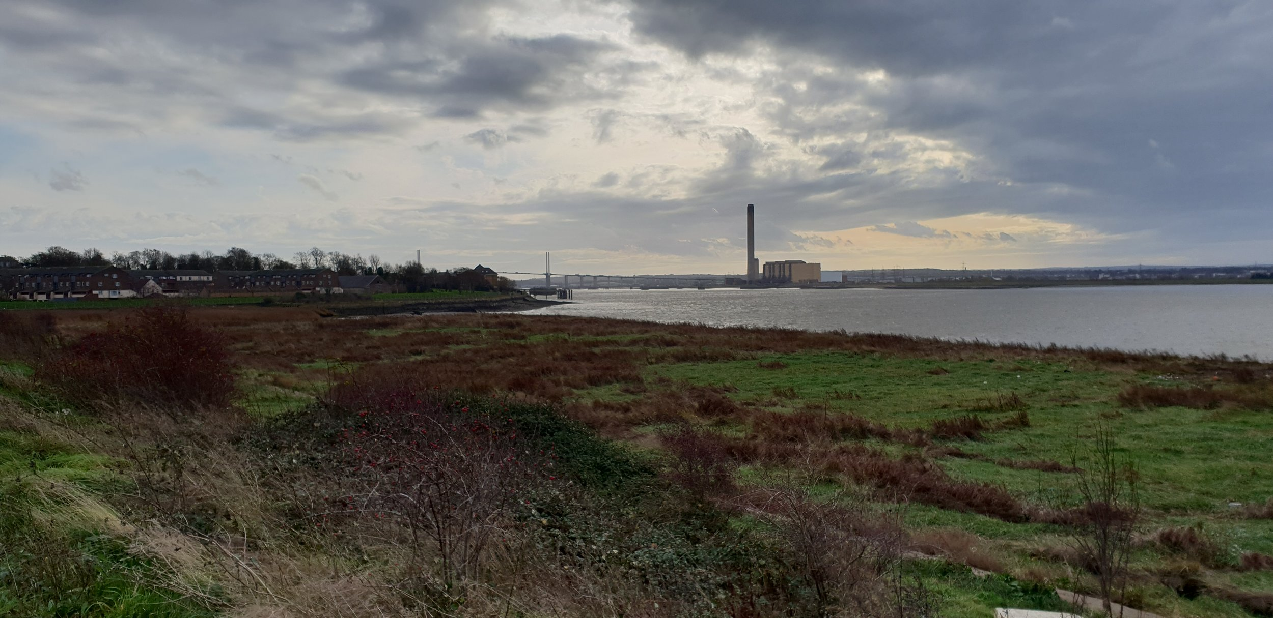 Looking back towards Dartford Crossing