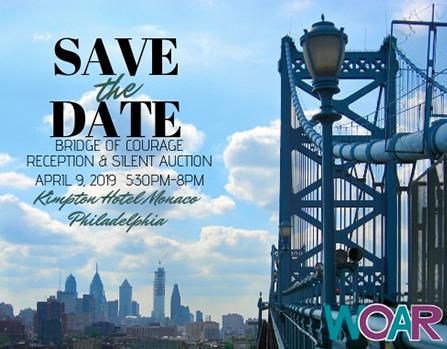 WOAR 'Bridge of Courage' Reception & Silent Auction     April 9th, 2019