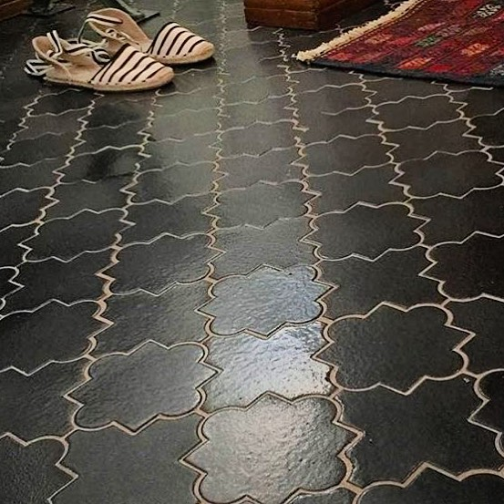 Our handmade Moroccan tiles look great as an entryway or mudroom floor! #moroccantiles #handmade #tile #luxurydesign #madeintheusa ##designideas @artobrick