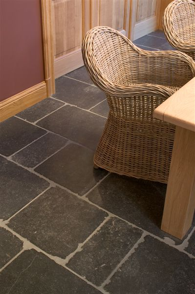 antiqued Belgian Bluestone