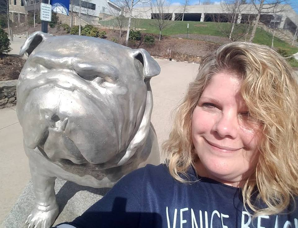 Kristine with Bulldog at UNCA