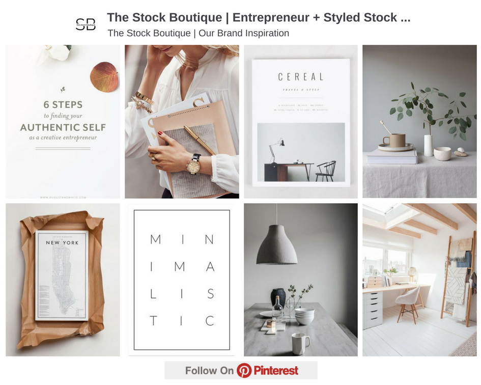 The Stock Boutique Pinterest Inspiration Board