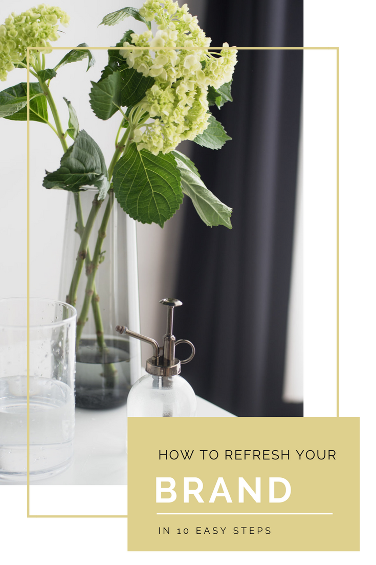 How to refresh your brand in 10 easy steps! Little rays of sunshine and warm breezes have been adding a little pep to our step lately! Anyone else sooo happy it's finally feeling like SPRING!?! It's got us thinking about the little things we can do to freshen up our brand, and we thought we'd share some of our tips with you too!