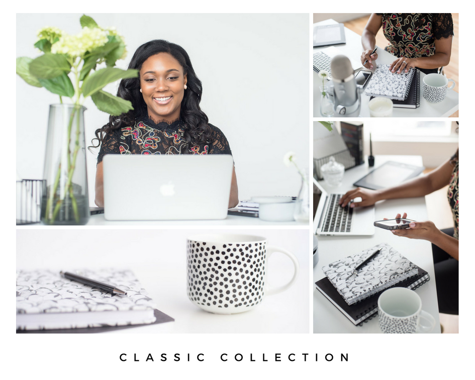 Here is our new stock photo collection  Classic . It's full of crisp whites, strong black tones, and a few subtle hints of green. We give a FREE stock photo away each month! Be sure to subscribe at www.thestockboutique.com.