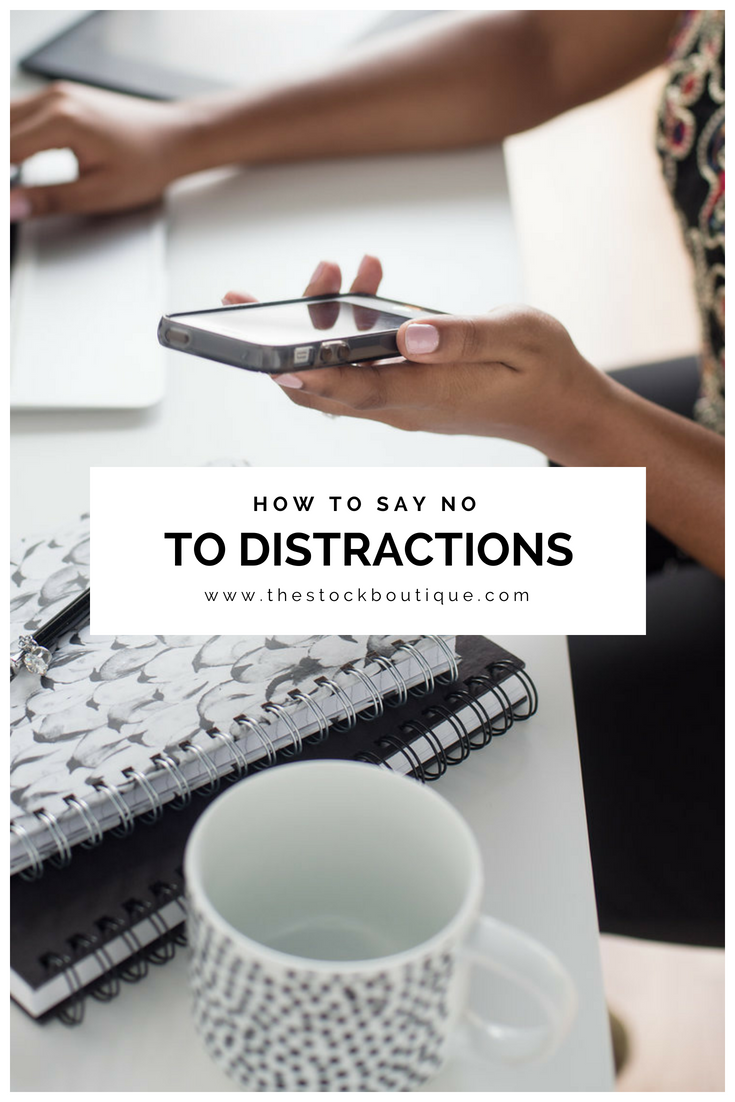 In today's world, notifications and messages are popping up on our phones all day long! Some of them are legitimately for business needs, but most could be classified as a distraction. So in the spirit of being more productive, here are a few tips I have used to help untether myself from my phone! www.thestockboutique.com