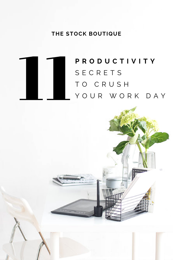 With summertime fun calling your name, who wants to waste precious time bogged down with work? Today, we're chatting about how to be more productive in your business! We've got 11 awesome tips to help you get your work DONE, so you can hit the pool that much sooner! 2018 Summer Stock Photography Collection. www.thestockboutique.com
