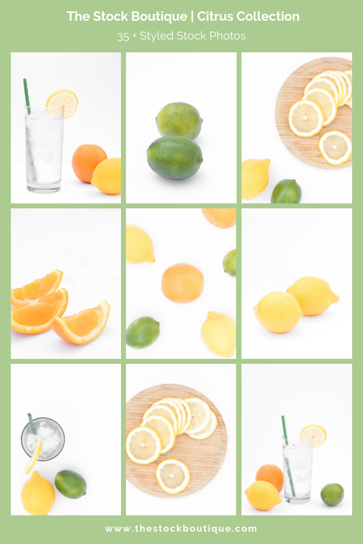 Citrus stock photography collection for female entrepreneurs.