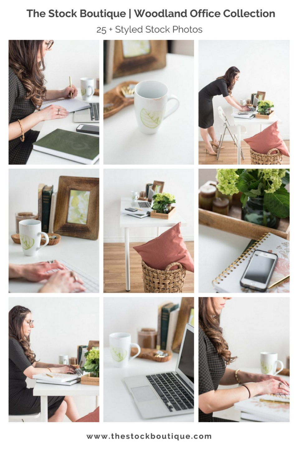 Woodland Office Fall Stock Photography Collection. We giveaway a free stock photo every month when you subscribe! www.thestockboutique.com    #fall     #stockphoto     #freestockphoto     #girlboss     #girlbossoffice     #officedesigninspiration    #stockphotography     #femaleentrepreneur