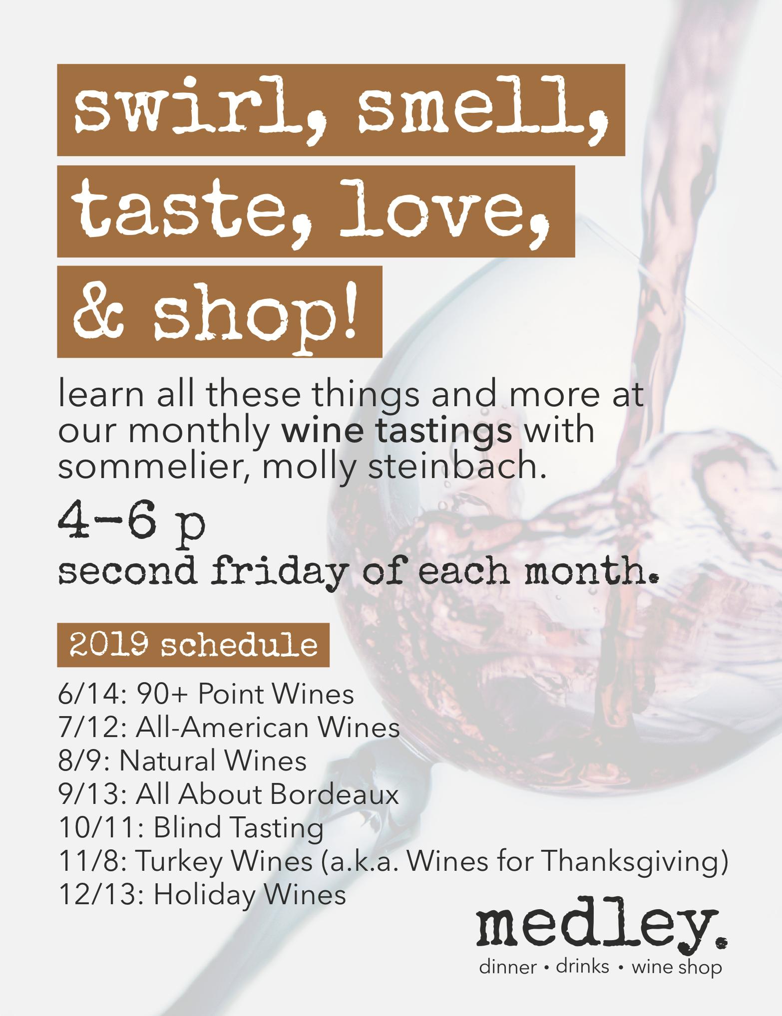 medley wine tasting series