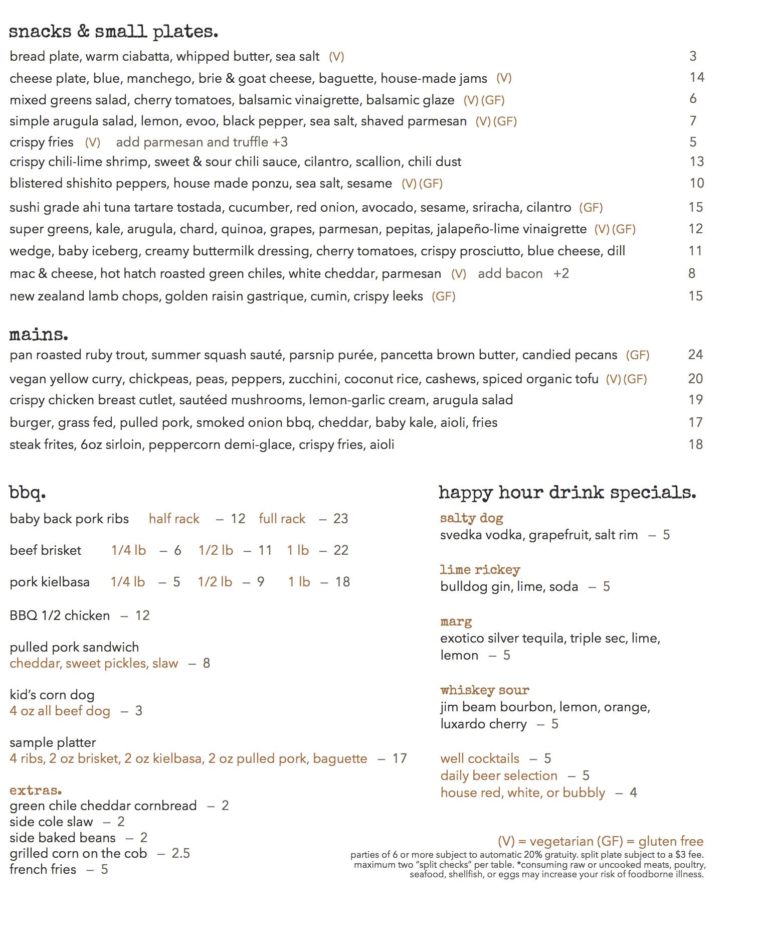 medley bbq menu taos