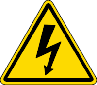 High Voltage  is when there is a strong electric potential that can casue injury or be life threatrening